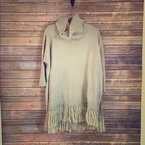 Sweaters - Beige sweater poncho